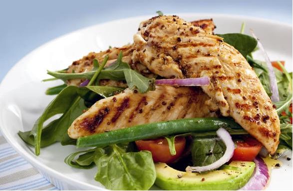 Правильное питание салат с куриной грудкой и